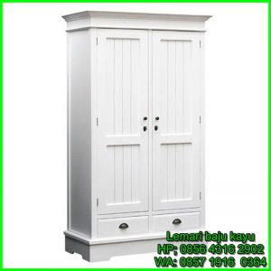 lemari pakaian kayu jati murah
