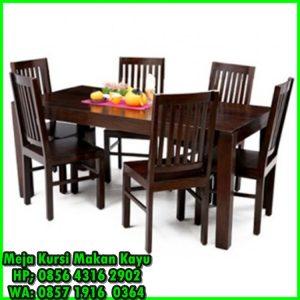 meja dan kursi makan minimalis