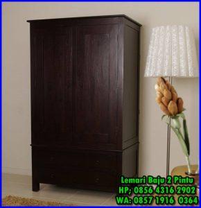 lemari baju kayu minimalis