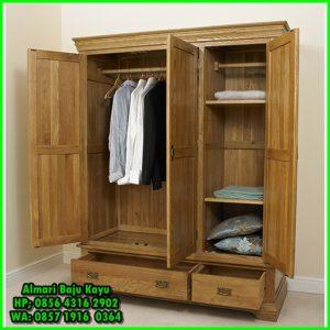 harga lemari pakaian kayu