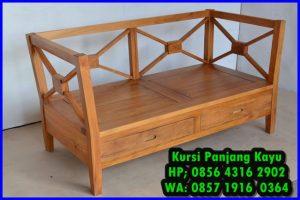 kursi panjang kayu minimalis