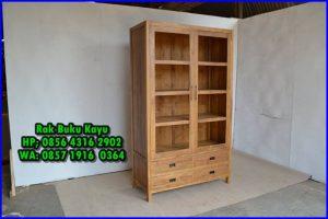 lemari rak buku minimalis