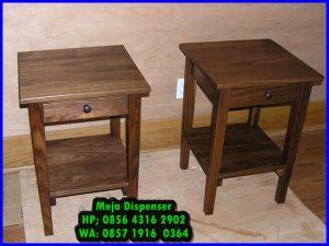 meja dispenser minimalis kayu