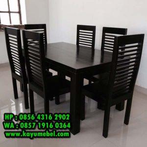 meja makan 6 kursi minimalis