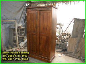 Harga lemari pakaian 2 pintu kayu jati
