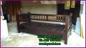 kursi kayu panjang minimalis