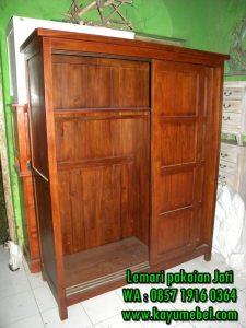 lemari pakaian 3 pintu minimalis sliding