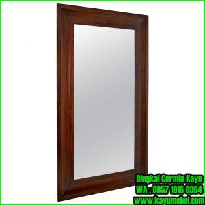 bingkai cermin kayu jati