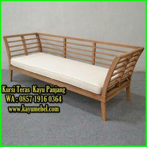 kursi panjang dari kayu