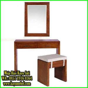 meja rias minimalis kayu jati