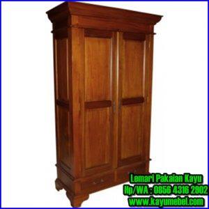 Model lemari pakaian dari kayu jati