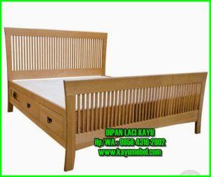 tempat tidur dengan laci dibawah