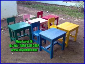 meja kursi tk taman kanak kanak