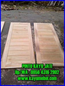 daun pintu kayu jati minimalis