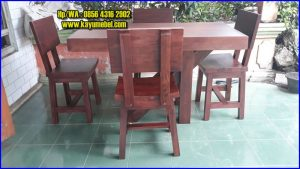 meja makan unik dari kayu