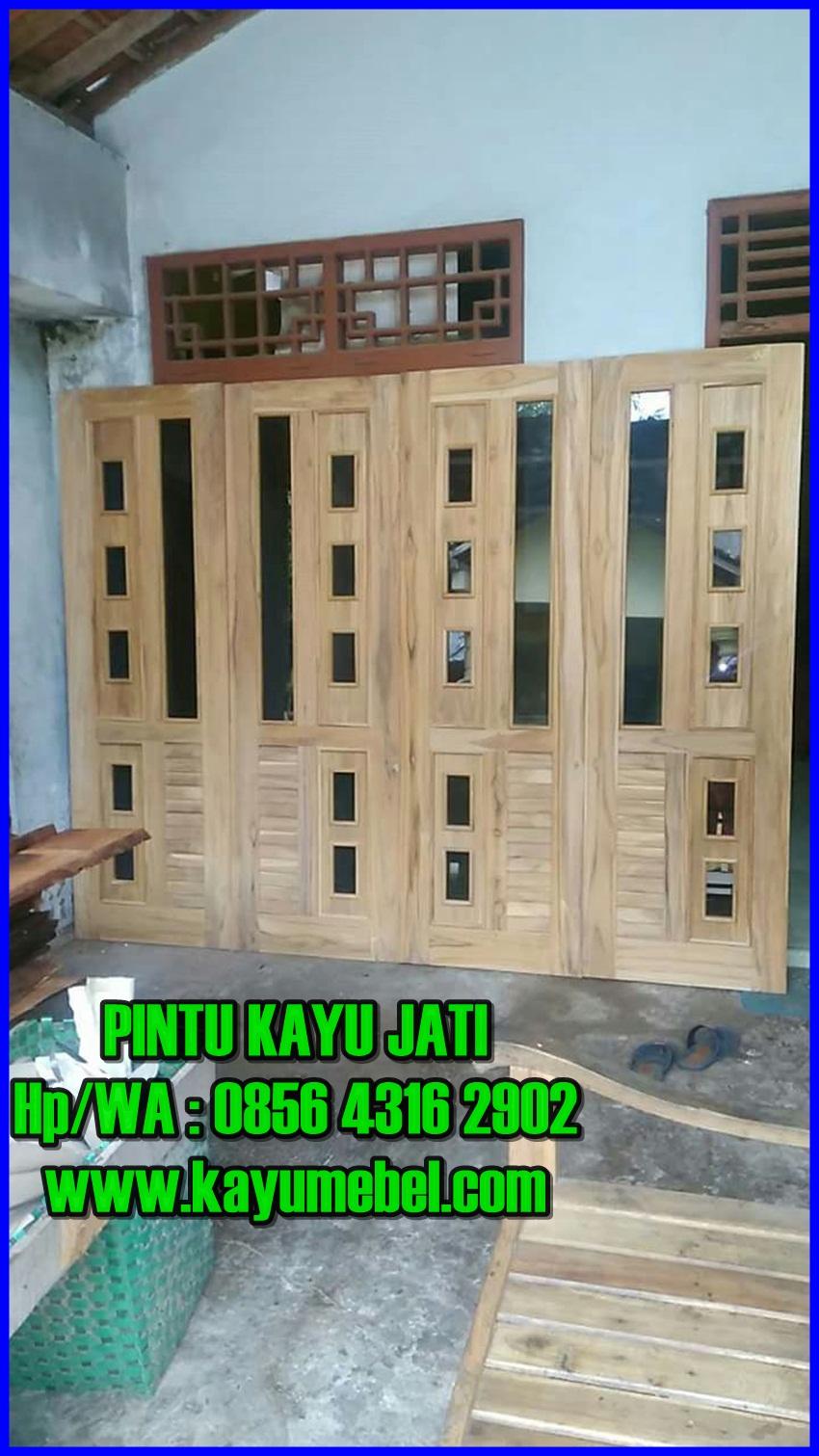pintu rumah kayu jati,harga pintu kupu tarung kayu jati