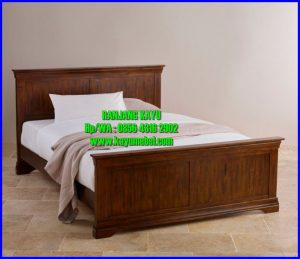 ranjang tempat tidur dari kayu