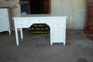 meja kerja kayu minimalis