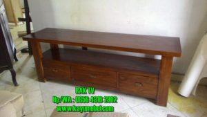 lemari TV kayu minimalis