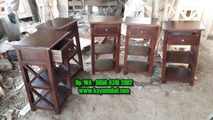 meja kecil kayu jati