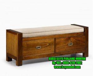 kursi kayu panjang modern