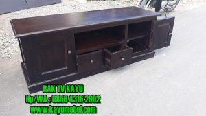 rak tv modern kayu