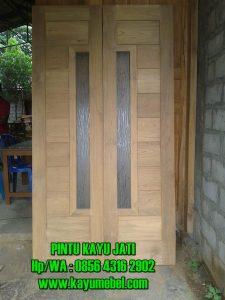 Harga pintu kayu jati minimalis
