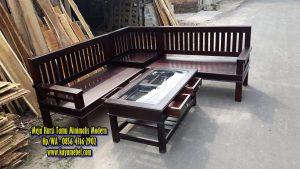 meja dan kursi tamu minimalis modern