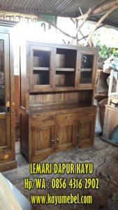 lemari dapur dari kayu