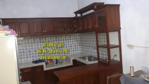 kitchen set dari kayu jati,