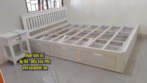 Dipan kayu minimalis laci Jogja